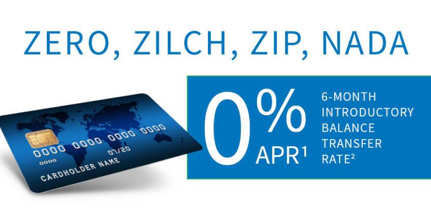 Zero, Zilch, Zip, Nada on Balance Transfers - SPCOCU