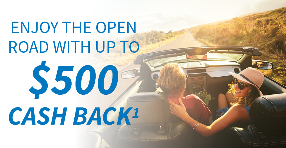 Learn more about Enjoy the Open Road with Cashback